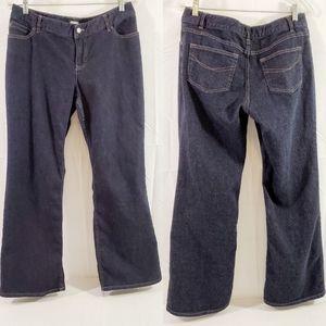 J. Jill Boot Cut Petite Dark Wash Blue Jeans 12P
